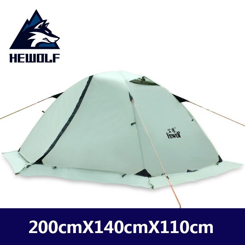Hewolf 4 сезонная профессиональная двойная палатка для альпинизма на открытом воздухе, набор для диких походов, ультра легкая Зимняя юбка, палатка
