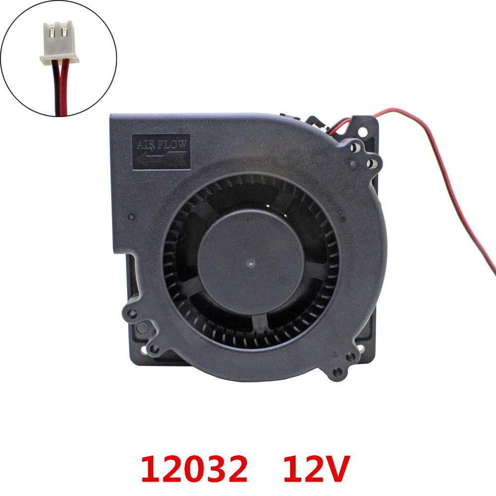 5pcs/lot 12032 blower Cooling fan DC 12V centrifugal Turbo Brushless Fans cooling Fan cooler radiator