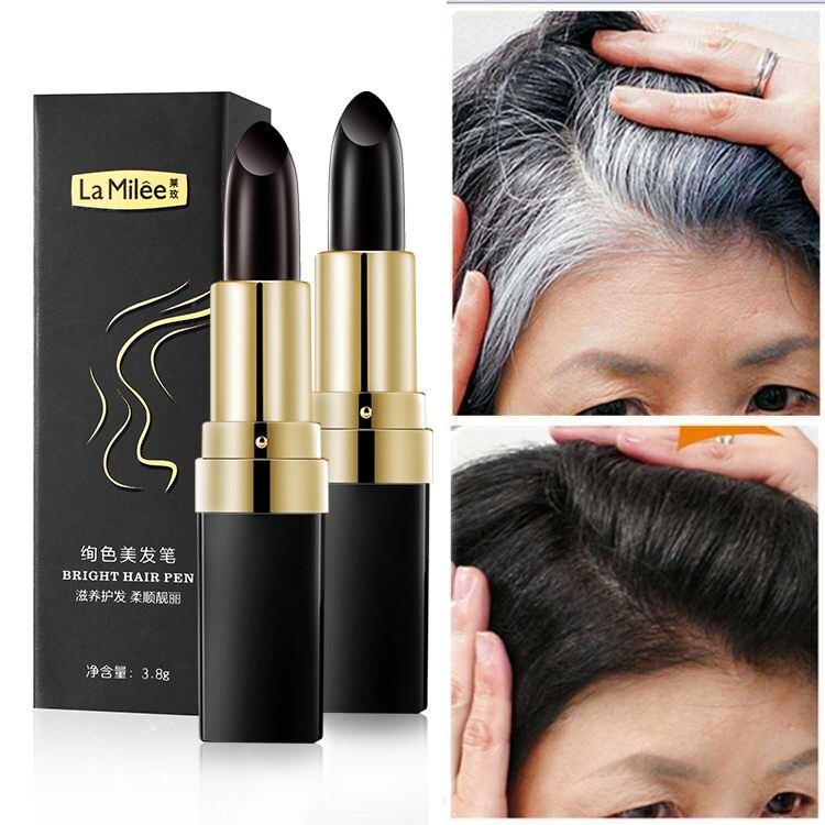 Uma vez tintura de cabelo instantânea cobertura de raiz cinza cor do cabelo modificar creme vara temporária cobrir cabelo branco cor tintura 3.8g