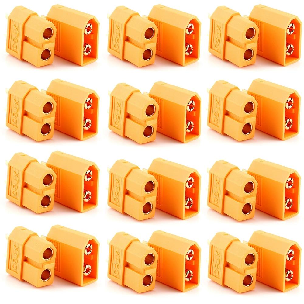 XT60 Conectores, 100 pçs/lote XT60 XT-60 Masculino-Feminino Conectores Bala Plugs Para RC Lipo Bateria
