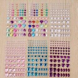 Акриловая наклейка DIY для мобильных телефонов, фоторамки, наклейки для скрапбукинга, сумки для татуировок, стразы, самоклеющиеся художественные кристаллы