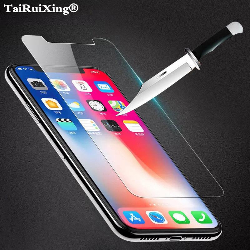 9H Premium Tempered Glass For iPhone XS Max XR XS X 10 8 7 6 6s Plus SE 4s 5s 5C 6s 7 8 Plus Case Co