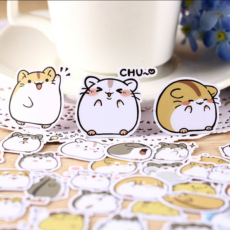 28 sztuk kreatywny kawaii samoprzylepne małe naklejki chomika piękne naklejki/dekoracyjna naklejka/DIY craft albumy ze zdjęciami TZ63