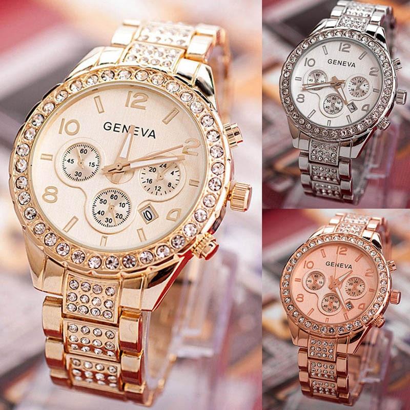 Geneva Women Fashion Luxury Crystal Quartz Watch women watches Dress watch Party decoration gifts Female woman girlfriend