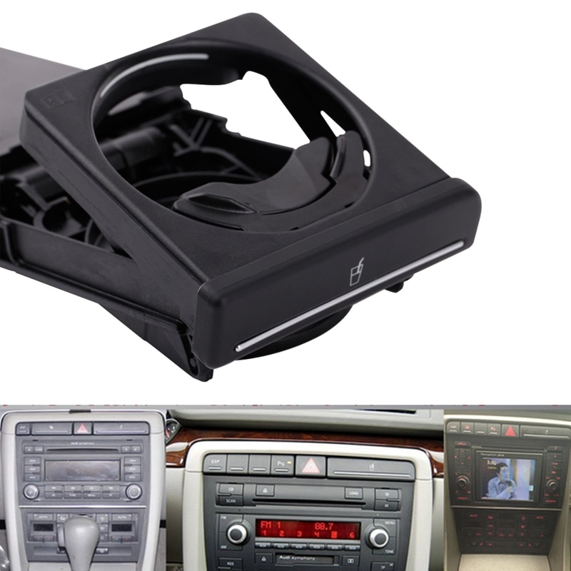 Новый черный Передний автомобильный подстаканник раздвижной для V W Audi A4/B6/B7 2002-2008 8E1862534K