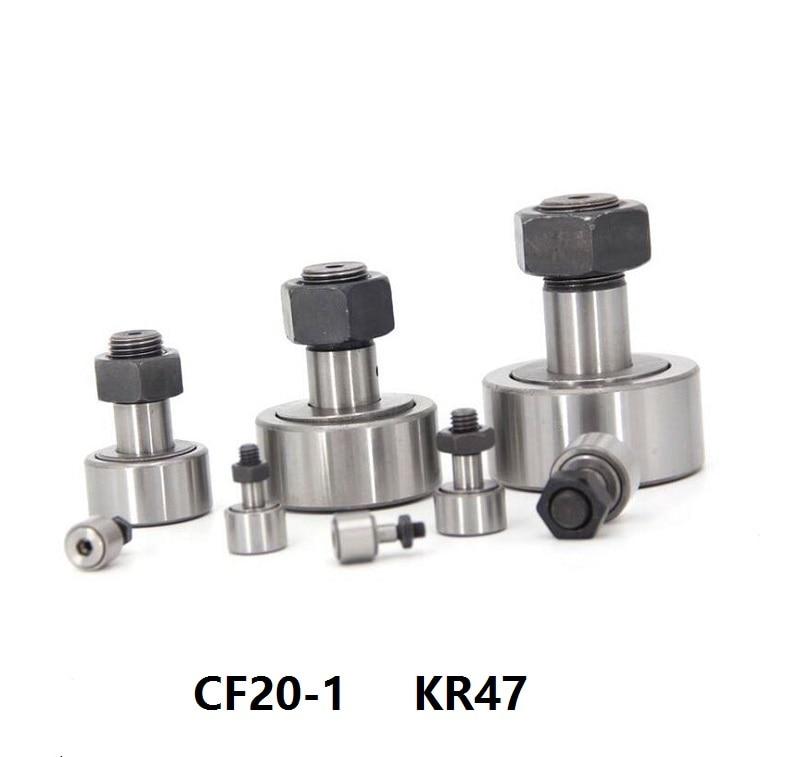 10 قطعة/الوحدة CF20-1/KR47 تحمل كام أتباع المسار بكرات مسمار نوع محمل ذو بكرات إبرية تحمل