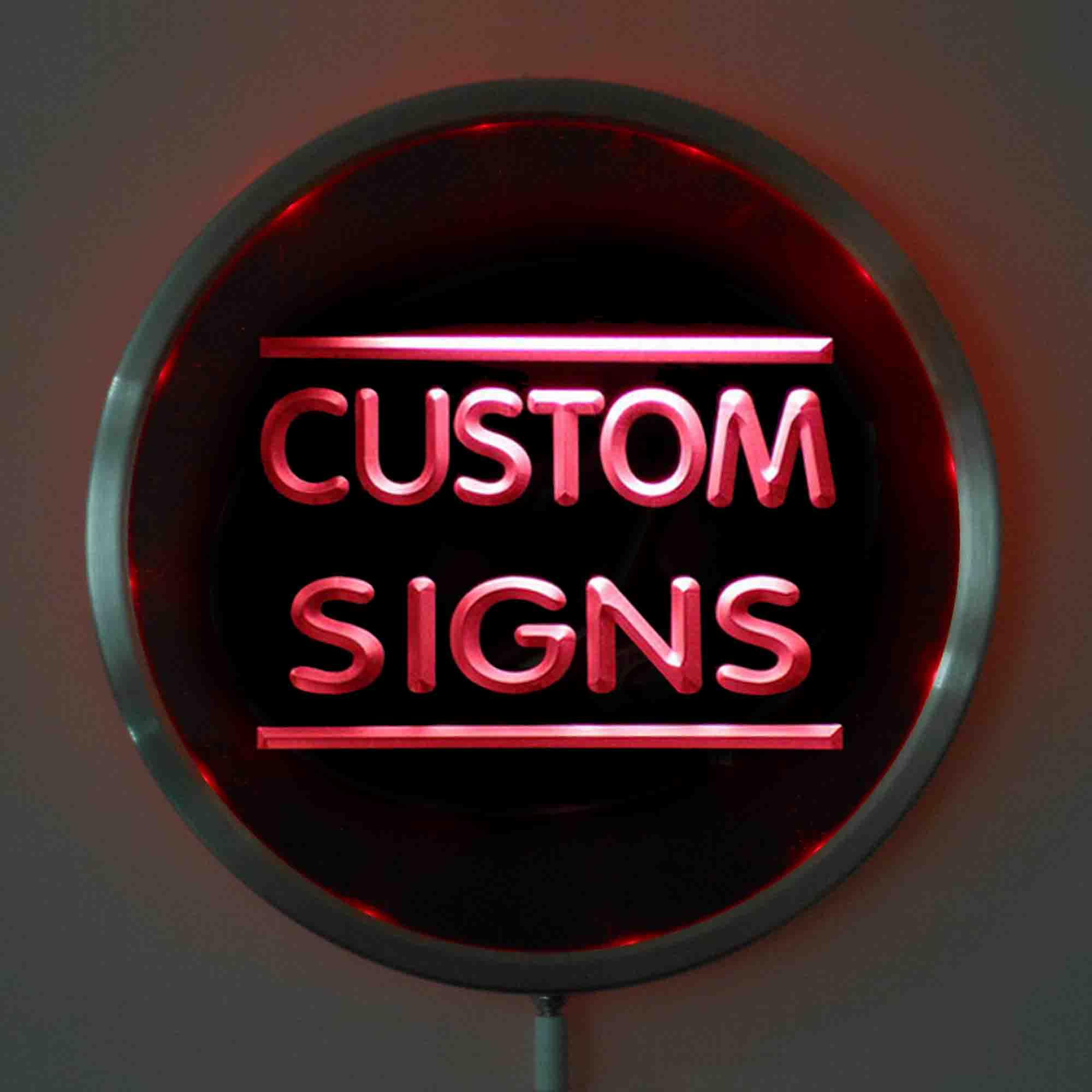 Светодиодные неоновые вывески 25 см/10 дюймов, круглые светодиодные вывески разных цветов с пультом дистанционного управления