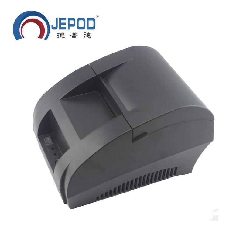 JP-5890K Mini 58mm Black Printer POS Receipt Thermal Printer Built in Power Adapter with USB Port EU Plug