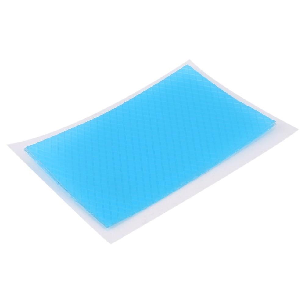 Parche de silicona 4,5x7,5 cm, parche reutilizable de gel para el acné, terapia de cicatrices, parche de silicona, lámina para eliminar quemaduras y golpes Reparación de la piel Color azul