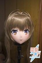 (KM896) Top Quality Handmade Female Resin Full Head Cosplay Japanese Role Play Sento Isuzu Anime Kigurumi Mask Crossdresser Doll