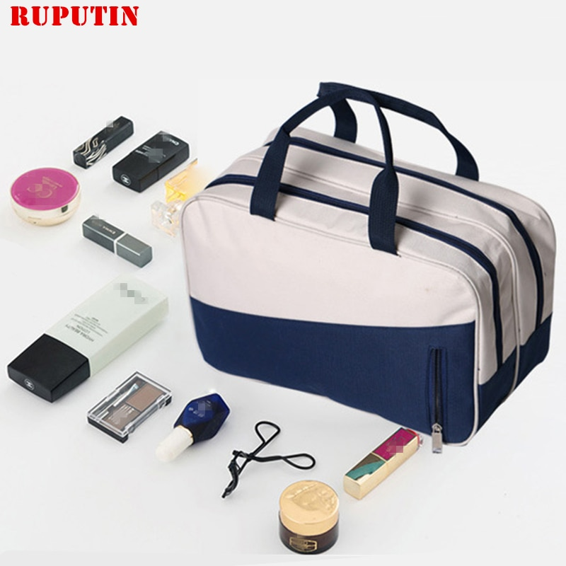 RUPUTIN Women Wet And Dry Separation Travel Cosmetic Bags Men Large Capacity Portable Luggage Packing Cube Organizer Duffel Bag etya cute travel bags cosmetic bag multifunction men and women pvc luggage packing organizer large capacity clothes wash pouch
