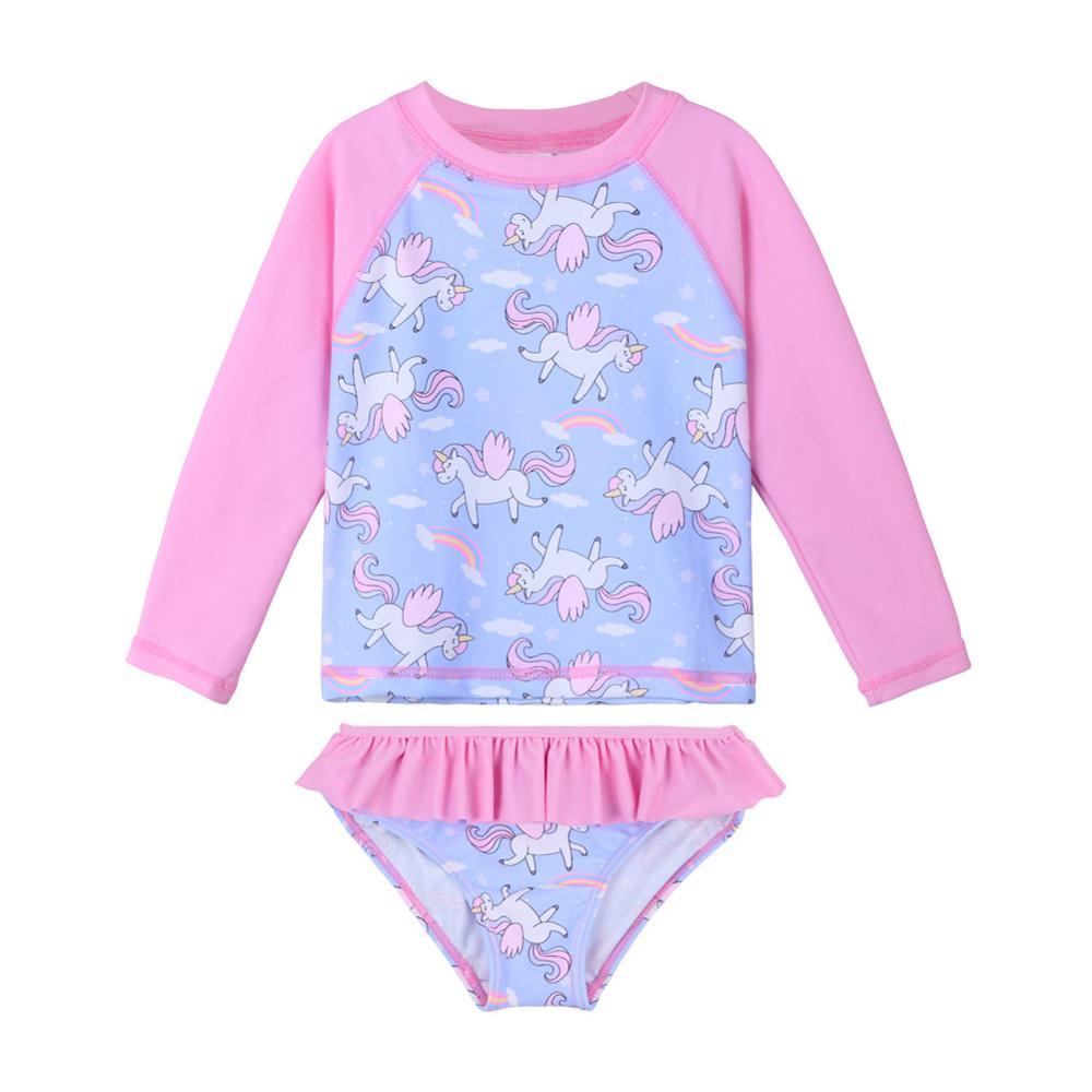 BAOHULU Cartoon Toddler Baby Swimwear Long Sleeve Girl Swimsuit Kids Two Piece UPF50+ Beach Swimming Suits Children Summer 2020