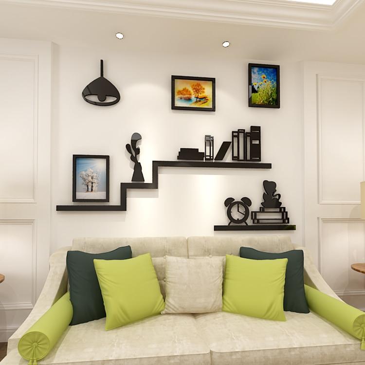 2018 new Creative photo frame bookshelf Arcley 3D wall sticker dining-room sofa bedroom TV background wall decoration sticke