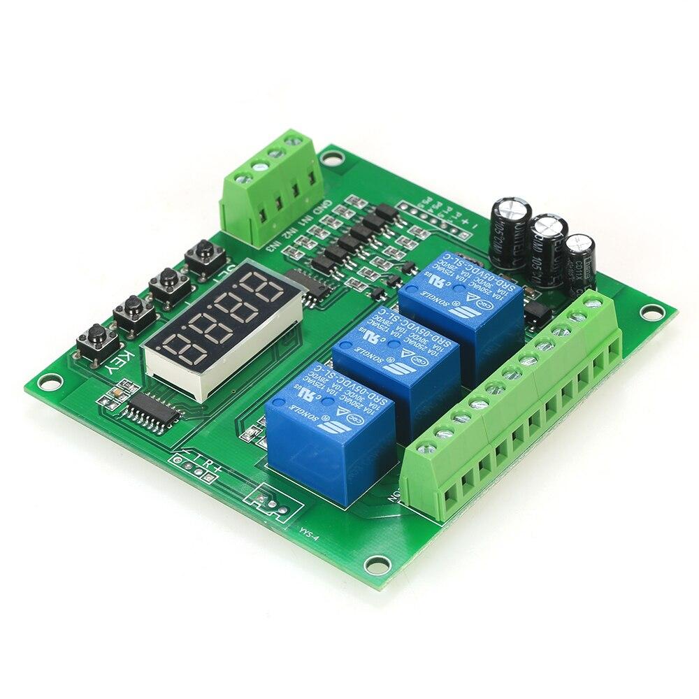 Módulo de relé de muestra LED programable de 3 canales DC/AC7V ~ controlador de Motor de 36V con alta corriente para Arduino Raspberry Pi