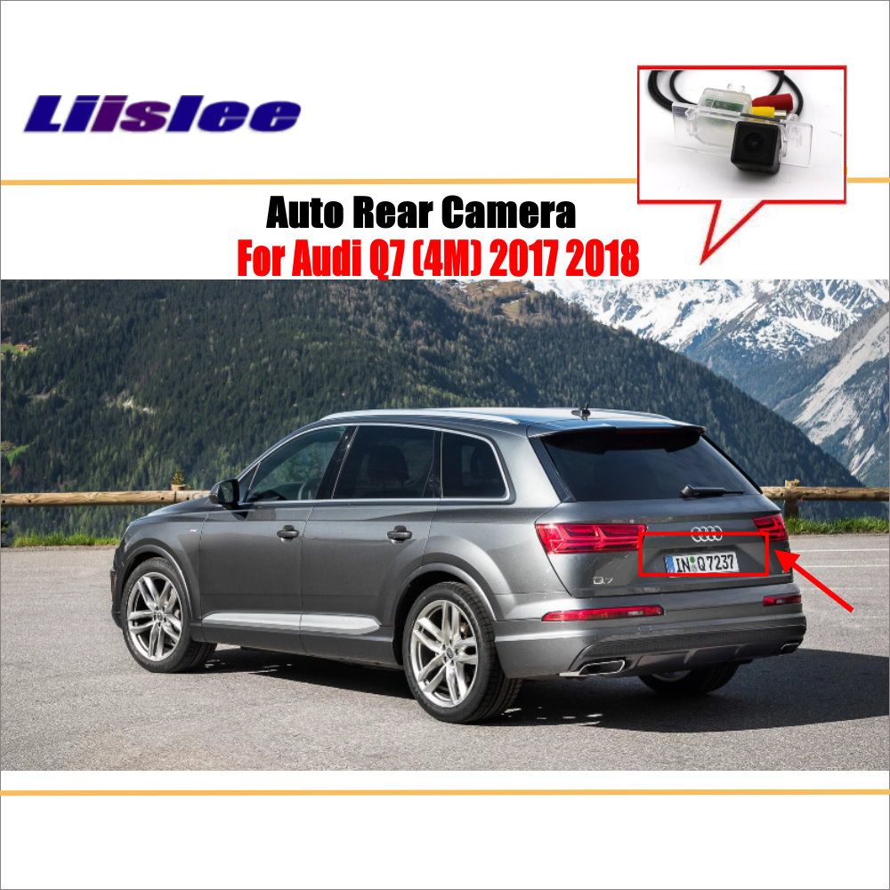 liislee rear view camera for peugeot 408 2014 2018 reverse hole parking back up camera night vision Liislee Reverse Rear Camera For Audi Q7 ( 4M ) 2017 2018 / Parking Back Up Camera / License Plate Lamp / HD Night Vision