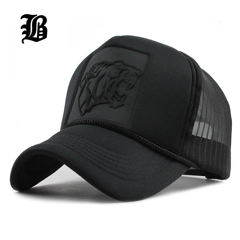 [FLB] 2019 היפ הופ שחור הדפס מנומר מעוקל בייסבול Caps קיץ רשת Snapback כובעי נשים גברים casquette נהג משאית כובע
