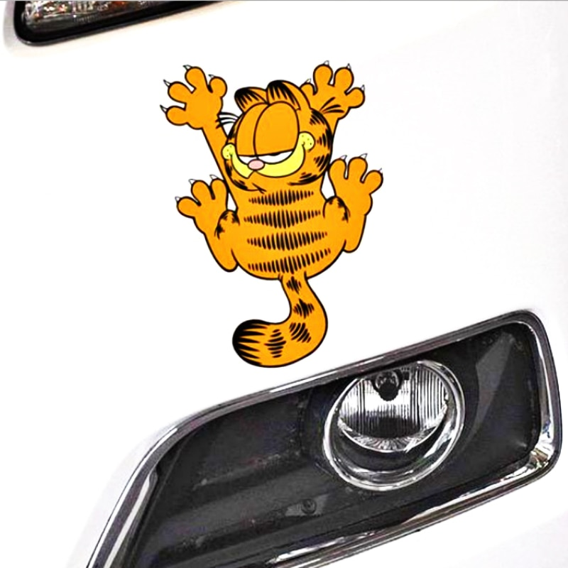 Carro-styling Engraçado Garfield Aliauto Pata Adesivo Decalque Do Vinil para o BMW X1 X3 X5 1 série série 3 5 série série 7 /// M Série Nissan