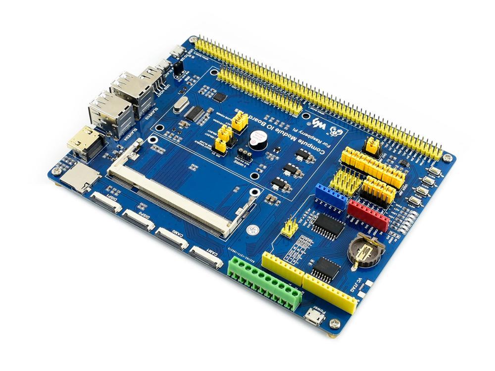 waveshare mini computer add ons based on raspberry pi compute module cm3 cm3l cm3 cm3 l Waveshare Compute Module IO Board Plus,Composite Breakout Board for Developing with Raspberry Pi CM3 / CM3L / CM3+ / CM3+L
