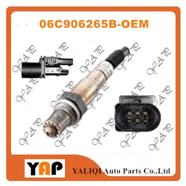 Sensor De oxigênio PARA FITAudi A6 S6 Avant puattro ASN BBJ 2.0L 3.0L L4 V6 FRENTE 5 wireLength 105 CM 06C906265B 06C 906 265 B 2002-2013