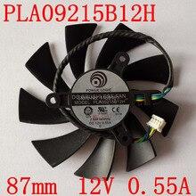 Freies verschiffen pla09215b12h 12 v 0.55a 87mm für msi n560 570 580gtx hd6870 grafikkarte lüfter 4 draht 4pin