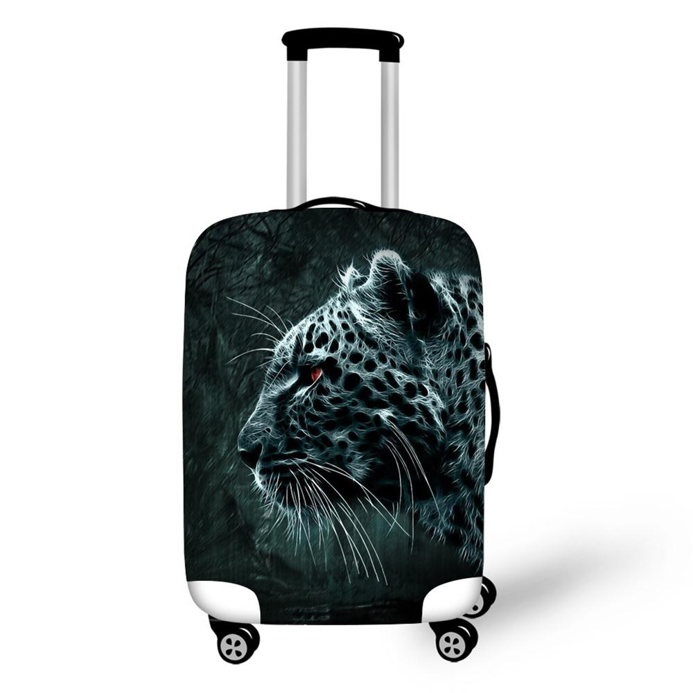 Cobertura de Bagagem de Viagem à Prova Protetora para 18-30 Alta Animal Print Mala Trolley Bagagem Capa Polegada Elástico d' Água 6 Cor 3d