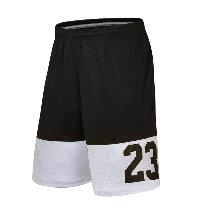 Pantalones cortos de baloncesto No.23 suelta pantalones cortos de playa gimnasio entrenamientos deportivos pantalones cortos de los hombres de secado rápido pantalones cortos