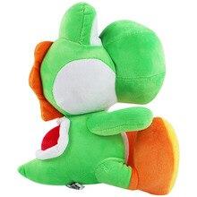 28cm Large Super Mario Bros Standing Yoshi Dragon Plush Dolls Toy Stuffed Soft Green Yoshi Peluche Doll Kids Gifts