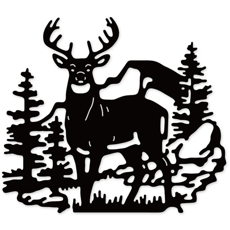 Swovo Deer Forest Elk cuchillo molde de corte de Metal troqueles nuevo 2019 para DIY tarjetas de papel para álbum de recortes Making embossing Dies