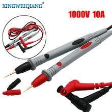 XINGWEIANG 2 pièces/ensemble multimètre numérique fils de Test 1000V 10A câble de sonde pour broche IC anti-dérapant Grip Multi testeur accessoires