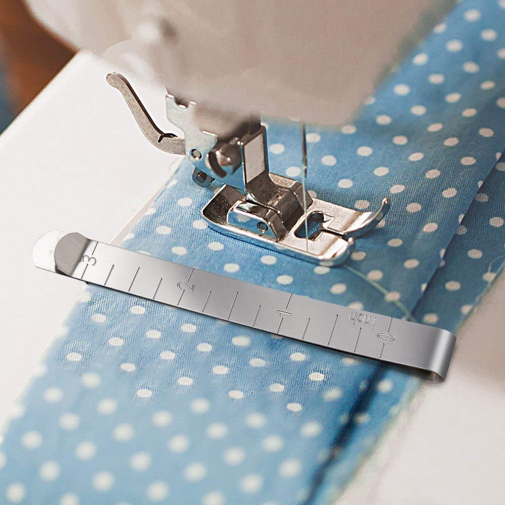 Clipes de costura criativa de aço inoxidável grampos de costura medição régua estofando casa tudo para acessórios de costura ferramentas
