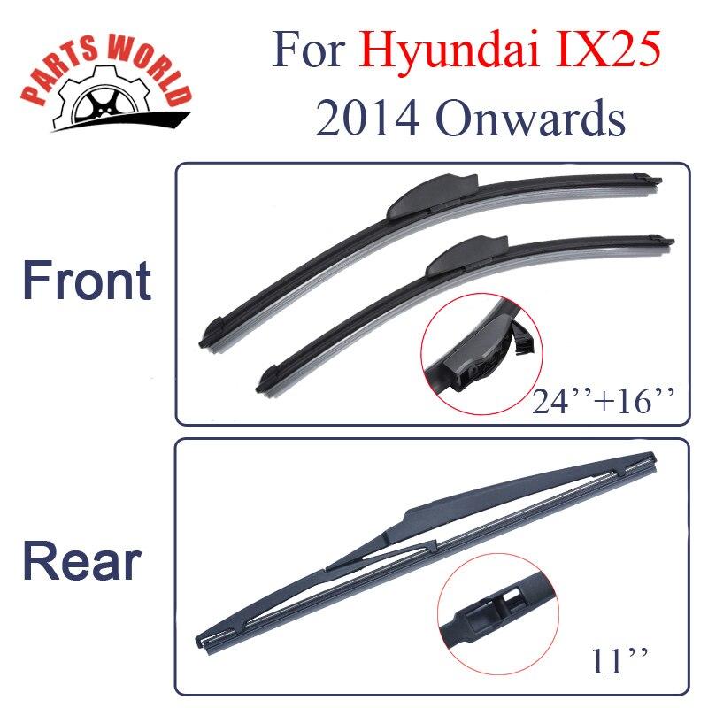 Combo limpiaparabrisas delantero y trasero para Hyundai IX25 2014 en adelante limpiaparabrisas accesorios para coche