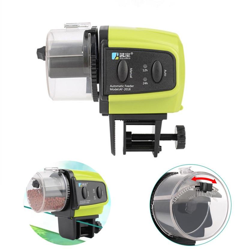 Alimentador automático de peces de acuario Digital, temporizador de tanque, alimentador automático de peces, acuario, temporizador de alimentación para peces, camarones, tortugas
