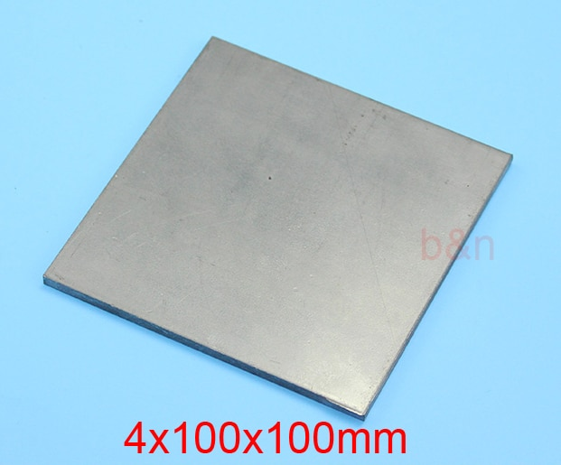 4mm de espesor 100mm de ancho 100mm de longitud tablero de magnesio AZ31B hoja de aleación de magnesio placa MgAIZn