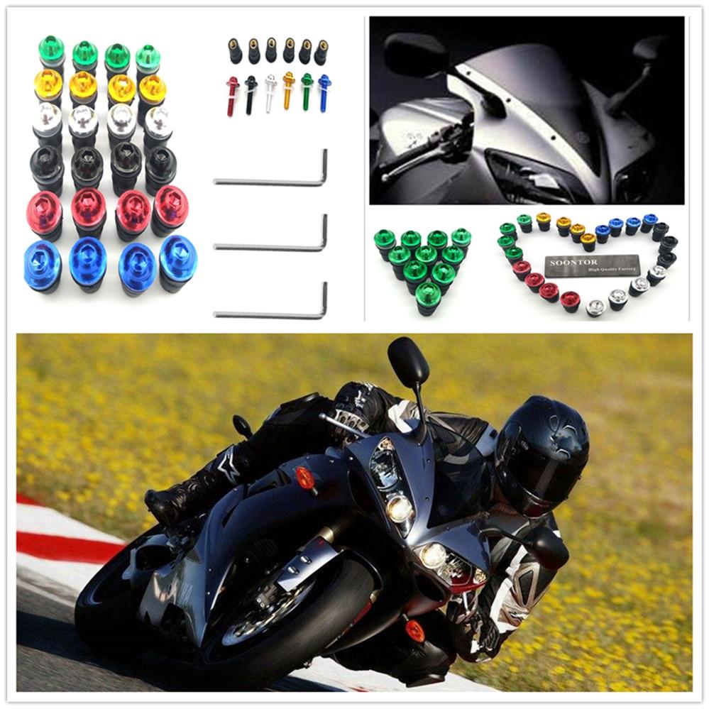 Kit de tornillos de motocicleta verde, 10 Uds., tornillos para parabrisas de motocicleta, perno del parabrisas para KTM 990 SupeR SUZUKI GSF600 Bandit GS1000