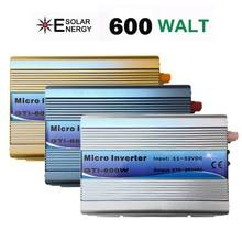 Onduleur à onde sinusoïdale Pure 600W 18V cc   Sur grille, sortie ca 220V avec fonction MPPT, rendement 99%, pour systèmes dénergie solaire