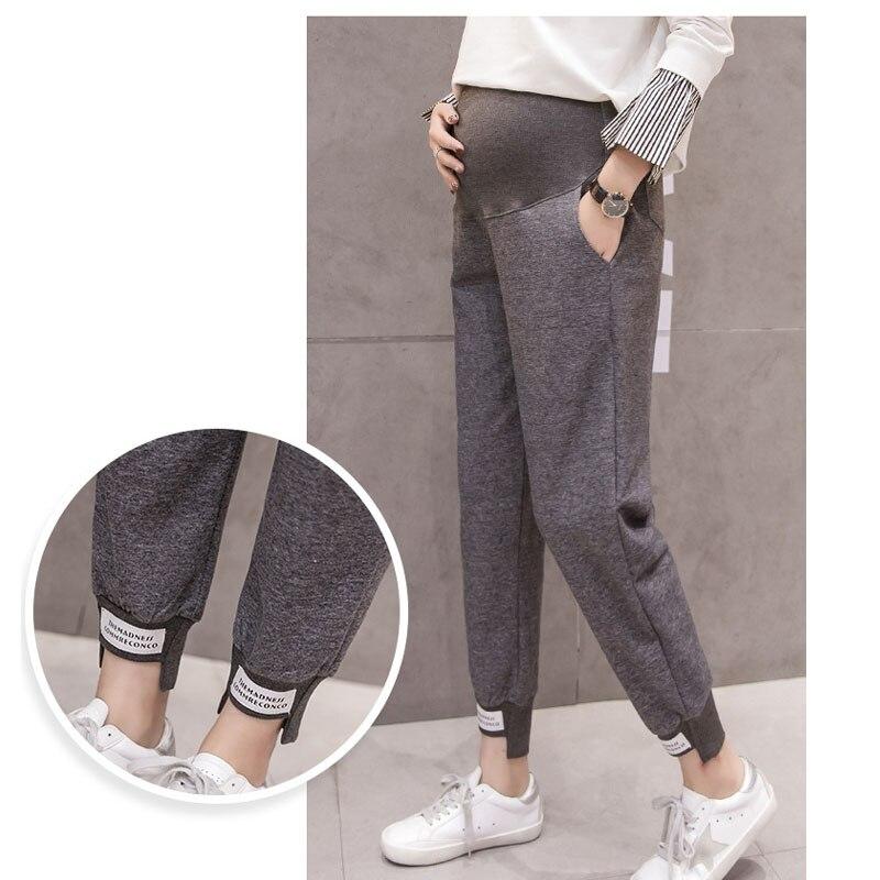 Мягкие спортивные штаны для беременных Одежда свободные трикотажные