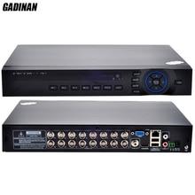GADINAN AHD 16CH 1080N DVR/hybrydowy 8 * 1080N (analogowy) + 8*960 P (sieci)/tylko sieć 8*1080 P; 4*5 M AHD TVI IP 4 w 1 wsparcie ONVIF
