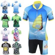 Enfants cyclisme vêtements garçons filles à manches courtes Maillot avec coussin Shorts ensembles vélo équipe vtt ropa ciclismo enfants Sportwear Maillot
