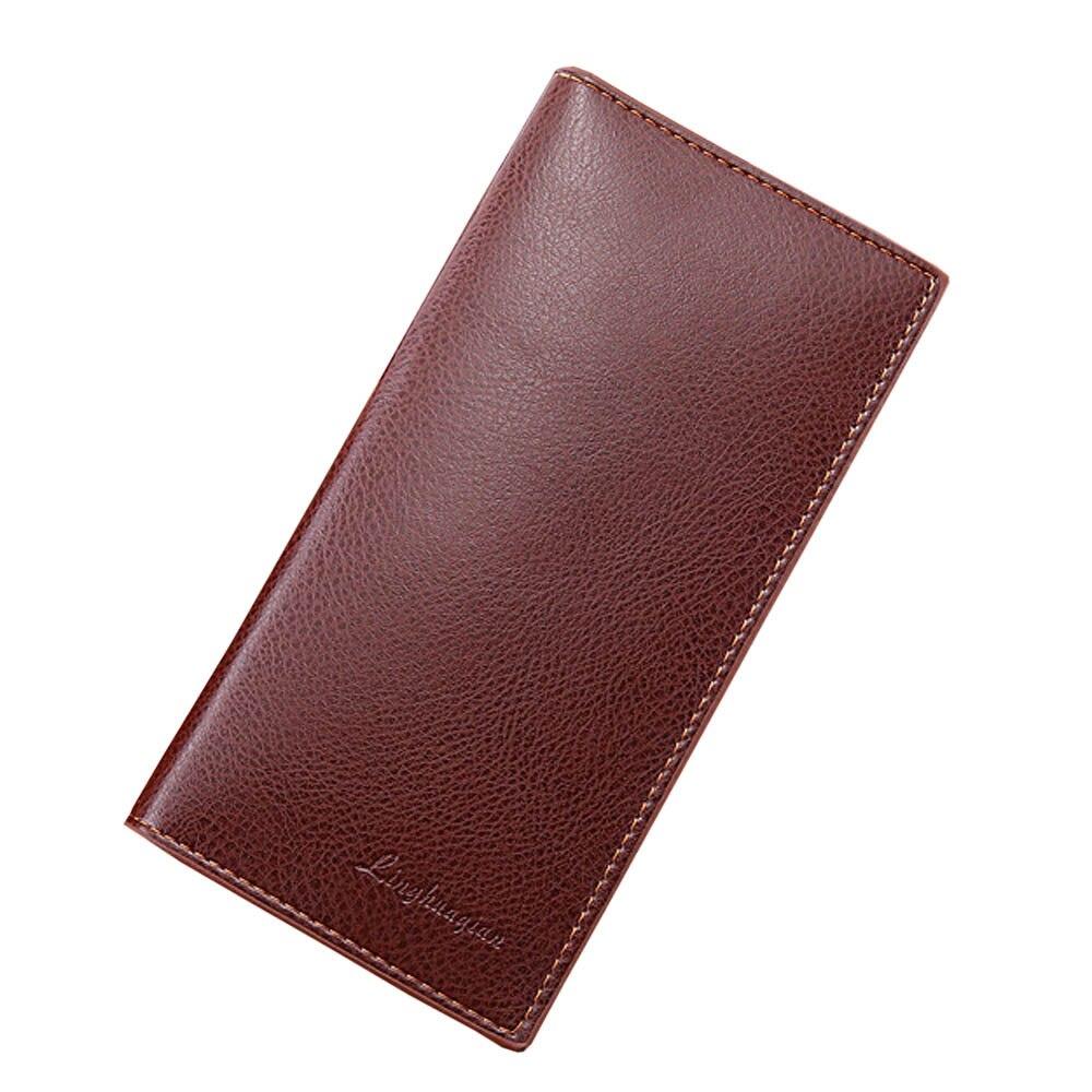 Bolsa de cuero para hombre, monedero conciso, bolso de gran capacidad, tarjetero,...