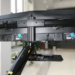 Image 5 - NB эргономичная компьютерная подставка для сидения, 22 27 дюймов, двойной экран, кронштейн для монитора, с клавиатурой, настольная подставка