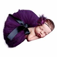 ARLONEET Newborn Photography Props Costume Baby Cute Yarn Skirt+Headband Photo Props Infant Girls Boys Outfits Accessories