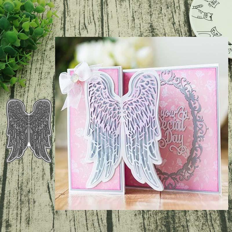 AddyCraft Metal cutting dies cut die mold Dual-use angel wings Scrapbook paper craft knife mould blade punch stencil