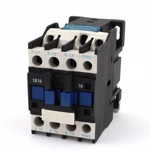 전원 AC 접촉기 1NO AC 220V 50/60Hz 코일 모터 스타터 릴레이 32A 3 상 극