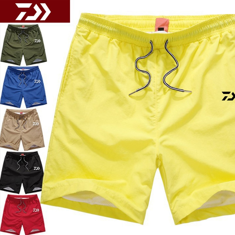 New Daiwa Fishing Shorts Waterproof Breathable Lightweight Beach Pants Loose Men's Knee Length Fishing Pants 6 Colors