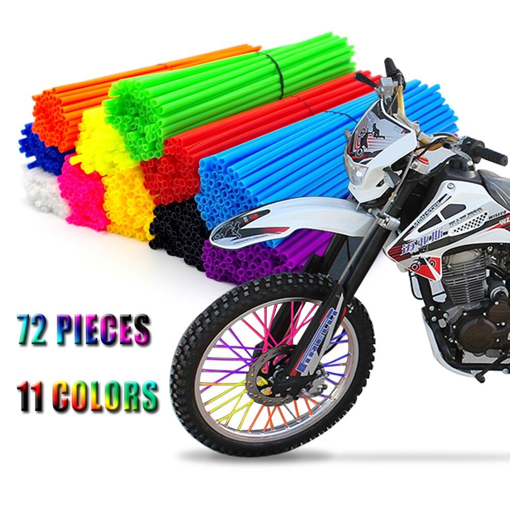 Универсальный мотоциклетный ободок колеса спицевые Чехлы обёрточная труба украшение для SUZUKI RMX250 RMX-450Z KTM Supermoto Moto