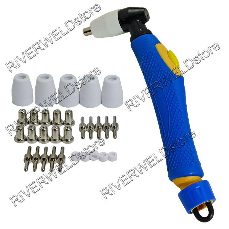Esab PT-31 LG-40 20072 cortador de Plasma cuerpo de la antorcha y puntas niqueladas boquillas de electrodos accesorios consumibles KIT 31 Uds