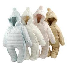 Hot sale ! 2018 Baby thermal overalls Winter jecket snowsuit duck down jumpsuit  outerward dress ware,toddler boy winter coat