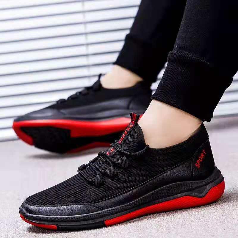 Esportes Dos Homens novos de Moda Moda Lazer Sapatos de Malha Ar-permeável