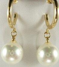 6 choix gros charme 12 mm orange / vert / argent / brown / jaune / blanc shell perle 18kgp boucles doreilles # 002