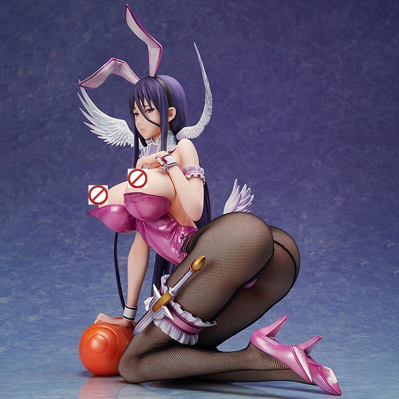 29cm BINDing Native Sexy Girl Figure Pure white Magical girl RAITA Misa Suzuhara Bunny Ver. PVC Action Figure Anime Model Toys